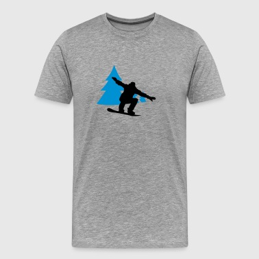 snowboarder trees - Men's Premium T-Shirt