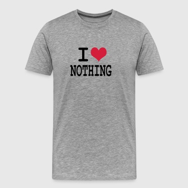 i love nothing by wam - T-shirt Premium Homme