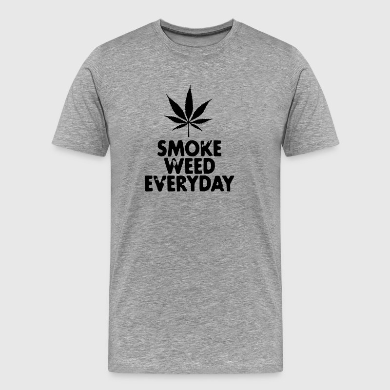smoke weed everyday leaf - T-shirt Premium Homme