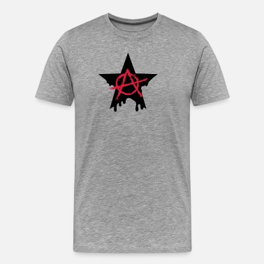 Chaos Star Anarchy star chaos symbol rebel revolution punk - Men's Premium T-Shirt