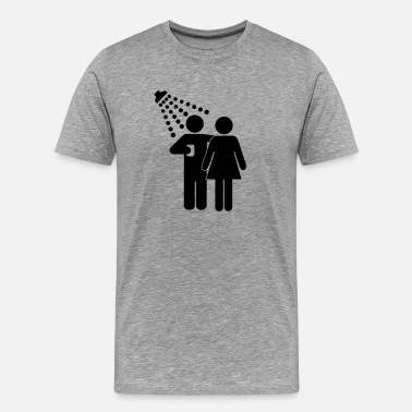 Lustig Witzig Anmachen Flirten Single Shower together - Männer Premium T-Shirt