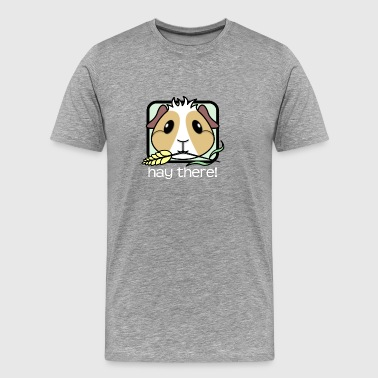 Guinea Hay There! Guinea Pig (text) 2 - Men's Premium T-Shirt