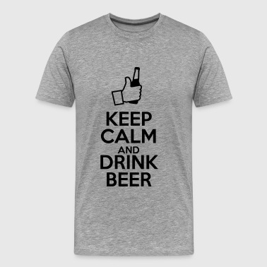 Keep calm ad drink beer - Maglietta Premium da uomo