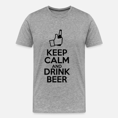 Keep Calm Divertente Keep calm ad drink beer - Maglietta Premium da uomo