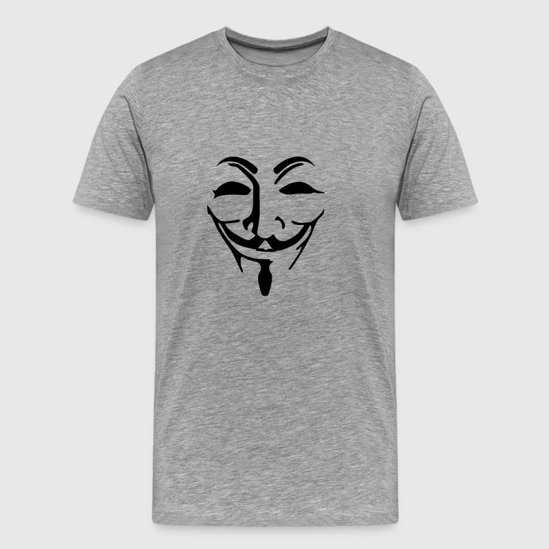 Anonymous mask fawkes - T-shirt Premium Homme