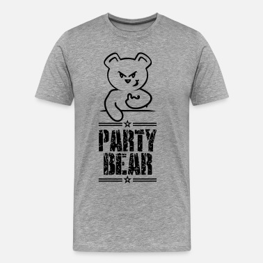 Party Bear party bear (text, 1c) - Men's Premium T-Shirt