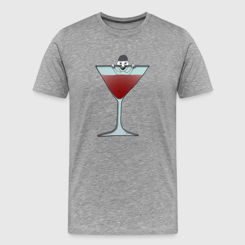 Männchen im Glas / man in glas - Men's Premium T-Shirt