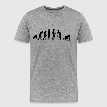 Evolution drinking  - Men's Premium T-Shirt
