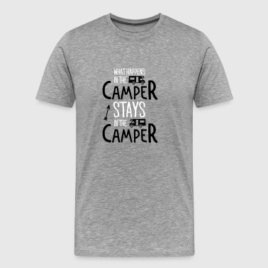 what happens in the camper... - Maglietta Premium da uomo