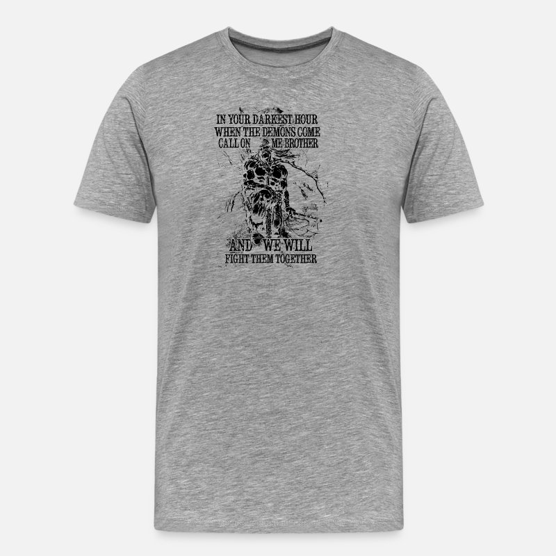Wiking T-Shirts - In your darkest hour call on me (dark) - Men's Premium T-Shirt heather grey
