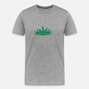 Drugs Patroon Weed - Mannen Premium T-shirt