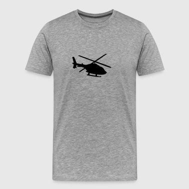 Helicopter shadow silhouette - Men's Premium T-Shirt