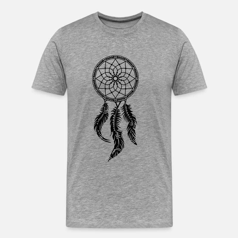 Dreamcatcher Dream Catcher T-Shirts - Dreamcatcher, Native Indians, dream catcher,  - Men's Premium T-Shirt heather grey