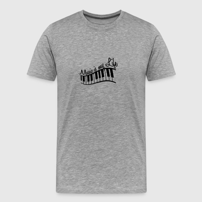 Music Is My Life Piano Keys - Herre premium T-shirt