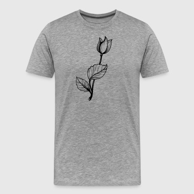 Vintage flowers sketch gift - Men's Premium T-Shirt