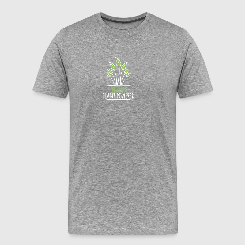 100% Plant Powered - Men's Premium T-Shirt