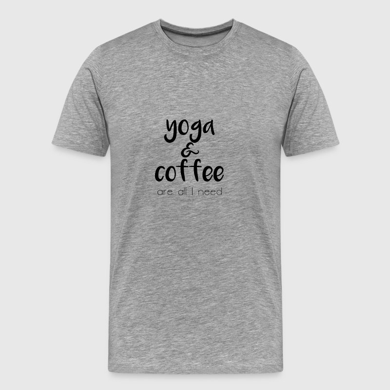 Yoga & coffee - Männer Premium T-Shirt