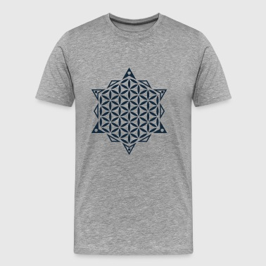 Flower of Life, Sacred Geometry - Mannen Premium T-shirt
