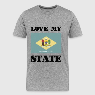 Love my state Delaware State Flag T Shirt - Männer Premium T-Shirt