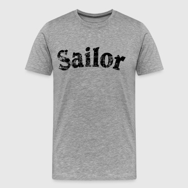 Matrozen Boot Sailor Vintage Sailing Design (Black) - Mannen Premium T-shirt