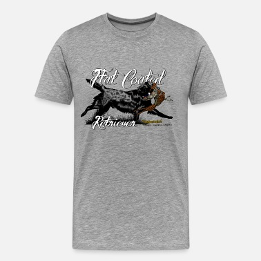 Flat Coated Retriever flat_coated_retriever - Men's Premium T-Shirt