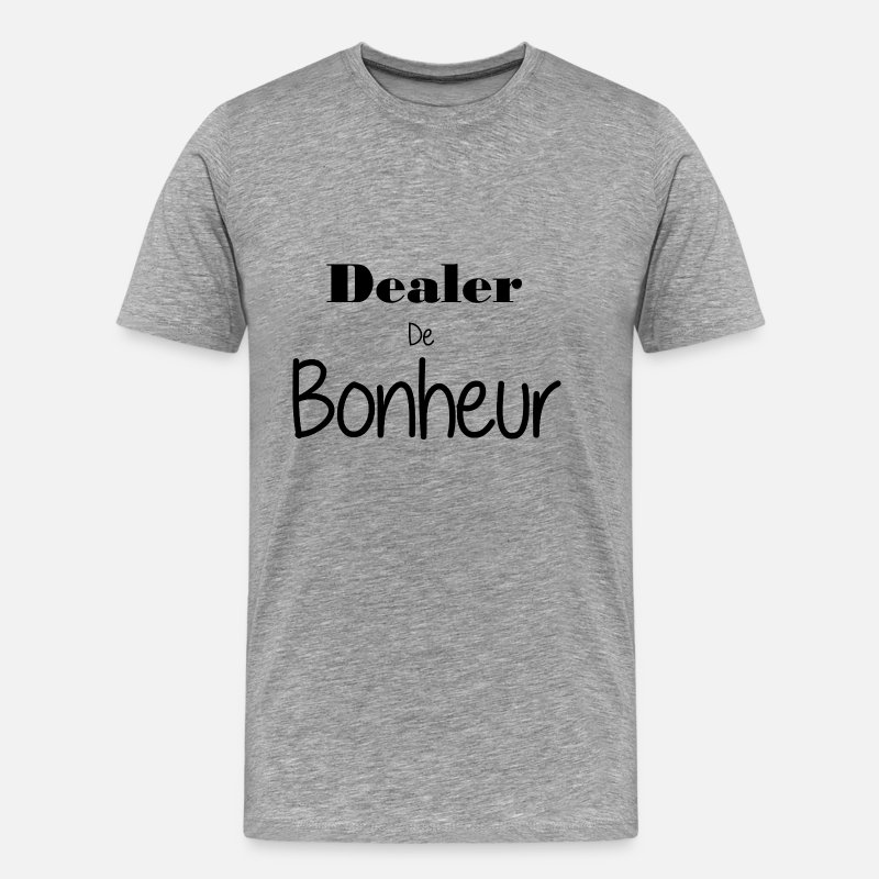 Happiness T-shirts - dealer - T-shirt premium Homme gris chiné