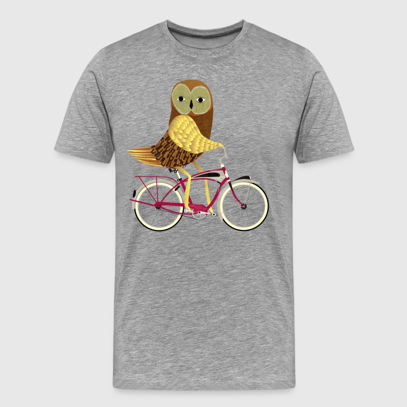 Owl on a Bike - Men's Premium T-Shirt