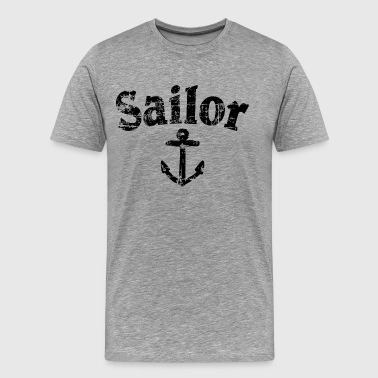 Sailor Anchor Vintage Sailing Design (FR) - T-shirt Premium Homme