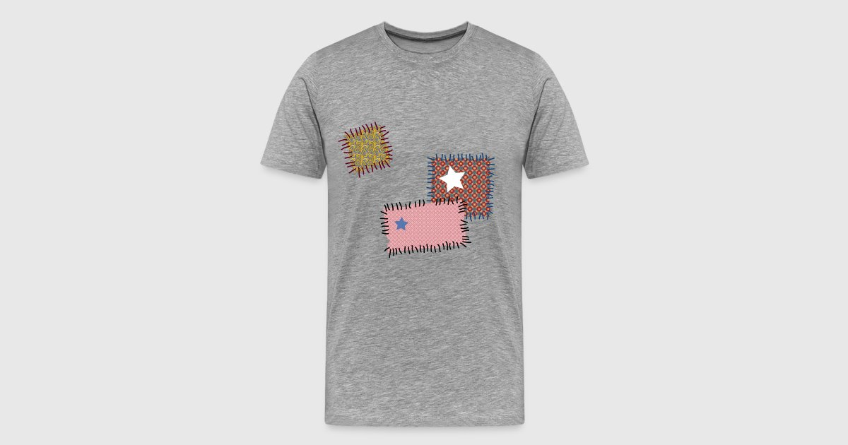 flicken reparatur patchwork stern n hen naht nadel t shirt spreadshirt. Black Bedroom Furniture Sets. Home Design Ideas