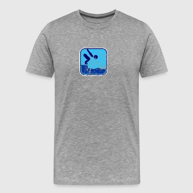 swimming used look - Premium-T-shirt herr