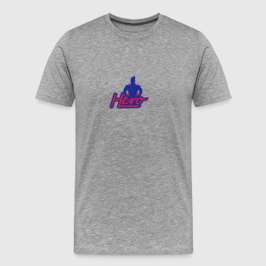 Super Hero Logo Design - T-shirt Premium Homme