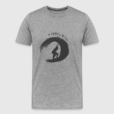 Barrel Roll Surfer - Herre premium T-shirt
