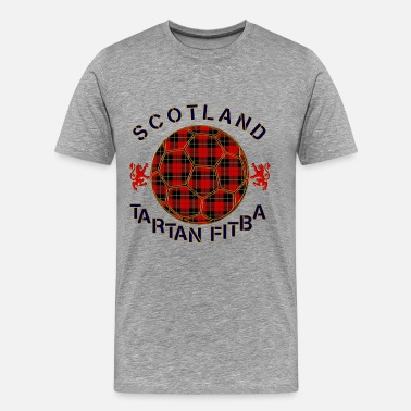 Tartan Army tartan football scotland red - Men's Premium T-Shirt