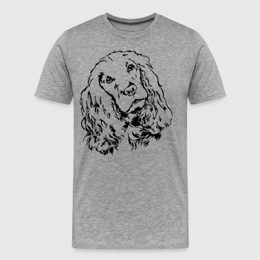 COCKER SPANIEL Portrait Wilsigns - T-shirt Premium Homme