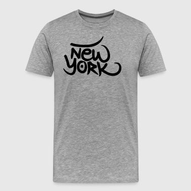 New York graffiti - Men's Premium T-Shirt