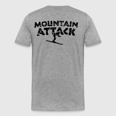 MOUNTAIN ATTACK Wintersport Ski Design (Black) - Mannen Premium T-shirt