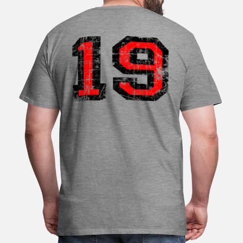 El número 19 número diecinueve cumpleaños Camiseta premium hombre ... b8d8e1a574cb0