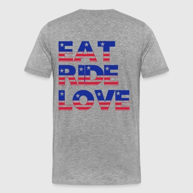 Eat Ride Love - Männer Premium T-Shirt