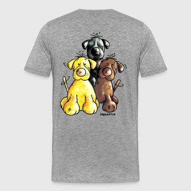 Labrador Retriever - Dog - Cartoon - Men's Premium T-Shirt