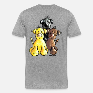 Labrador Cartoon Labrador Retriever - Dog - Cartoon - Men's Premium T-Shirt