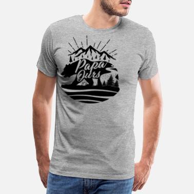 a751eaddcdd85 Papa Ours T-shirt Fête des Pères - Papa Ours - T-shirt premium