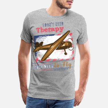 Aviation Theraphy flying pilot saying - Men's Premium T-Shirt