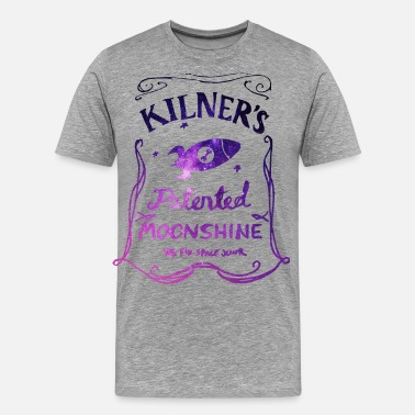 Daniel Kilner's Patented Moonshine (Stars Outline) - Men's Premium T-Shirt