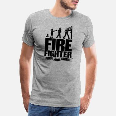 Heldin Firefighter - Pride and Honor - Männer Premium T-Shirt