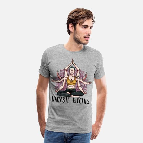 Yogi T-Shirts - yoga - Men's Premium T-Shirt heather grey