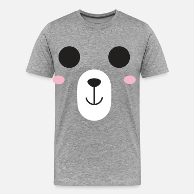 Teddy Girl Bear face gift kid baby teddy bear animal baptism - Men's Premium T-Shirt