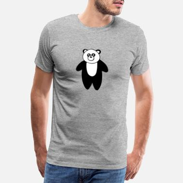Panda Cute Panda drawing - Men's Premium T-Shirt