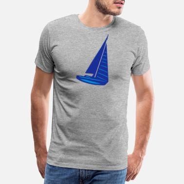 Sail Boat sailing boat - Men's Premium T-Shirt