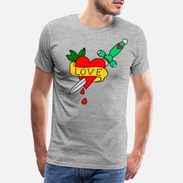 Kiss Me Love cut - Men's Premium T-Shirt
