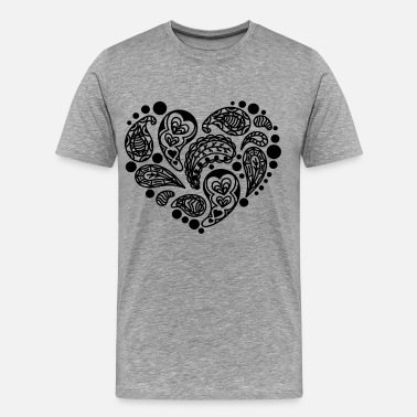 Heart Attack Paisley pattern Scotland Heart In love Gift - Men's Premium T-Shirt